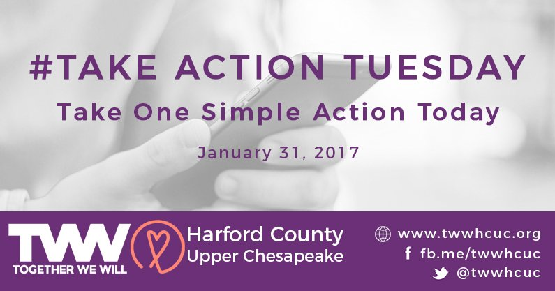 #TakeActionTuesday January 31st