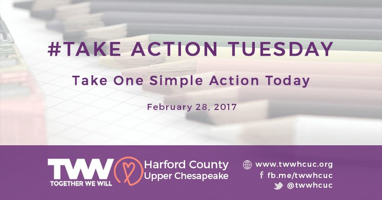#TakeActionTuesday February 28th