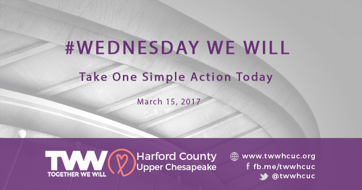 #WednesdayWeWill – March 15th
