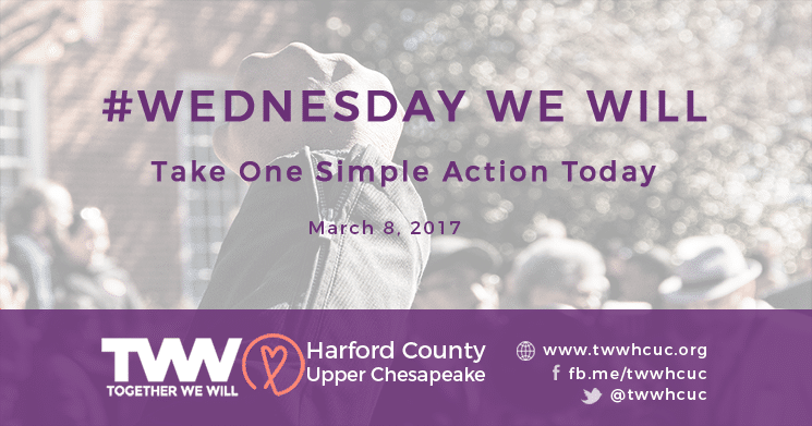 #WednesdayWeWill March 8th