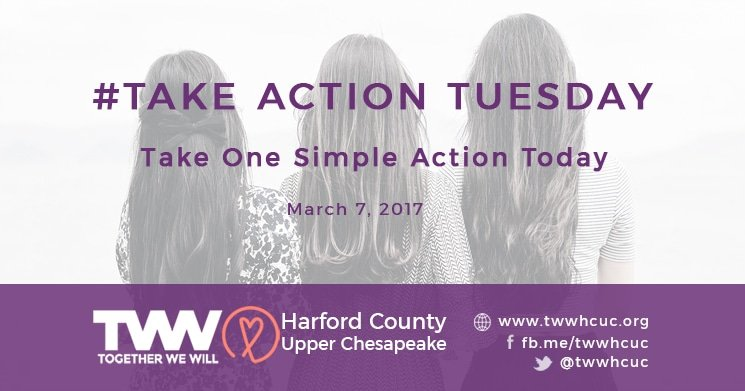 #TakeActionTuesday March 6, 2017