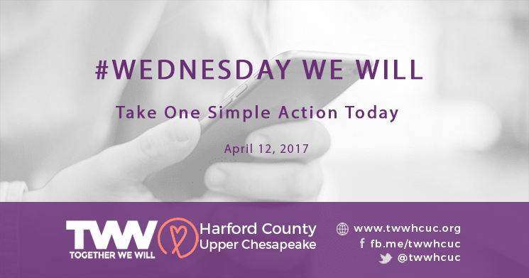 #WednesdayWeWill – April 12th