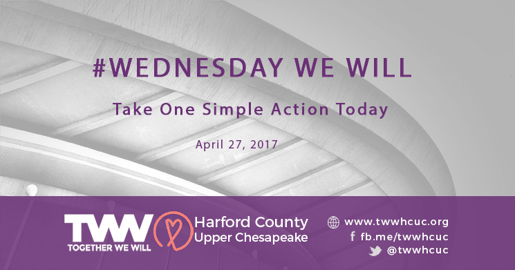 #WednesdayWeWill – April 27th