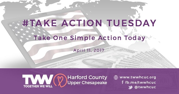 #TakeActionTuesday – April 11, 2017