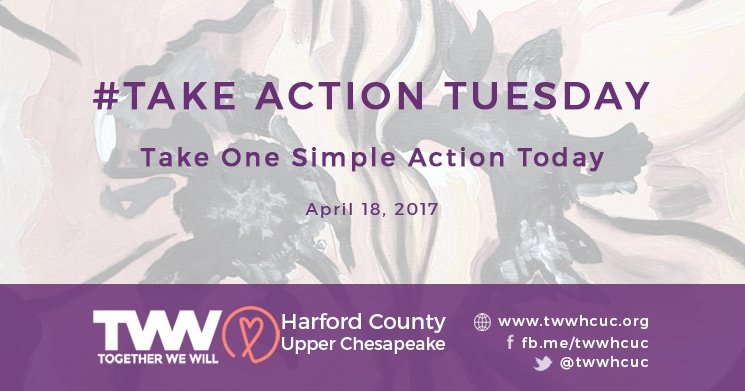 #TakeActionTuesday – April 18, 2017