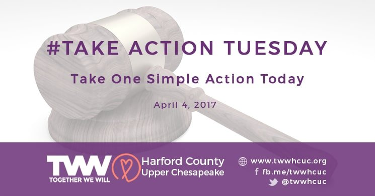 #TakeActionTuesday – April 4, 2017