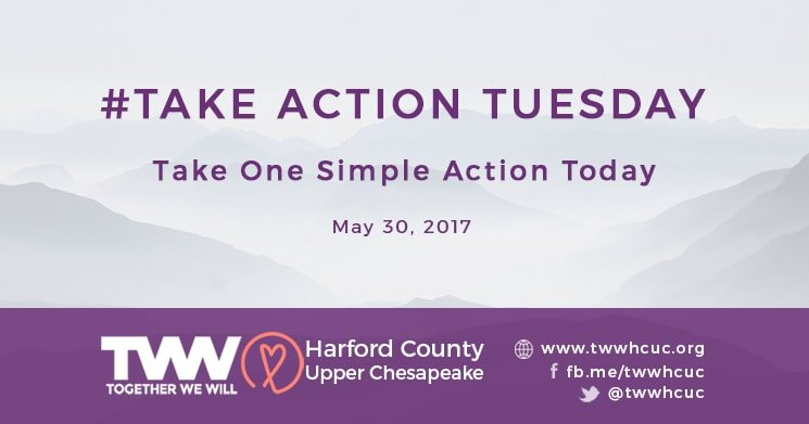#TakeActionTuesday – May 30, 2017